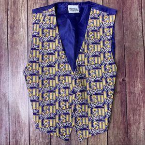 VTG LSU Purple & Gold Tapestry Embroidered Vest